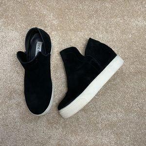 Steve Madden Black Wedge Sneaker Booties Size 6.5